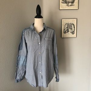 Marc by Marc Jacobs Patchwork Button Up Shirt